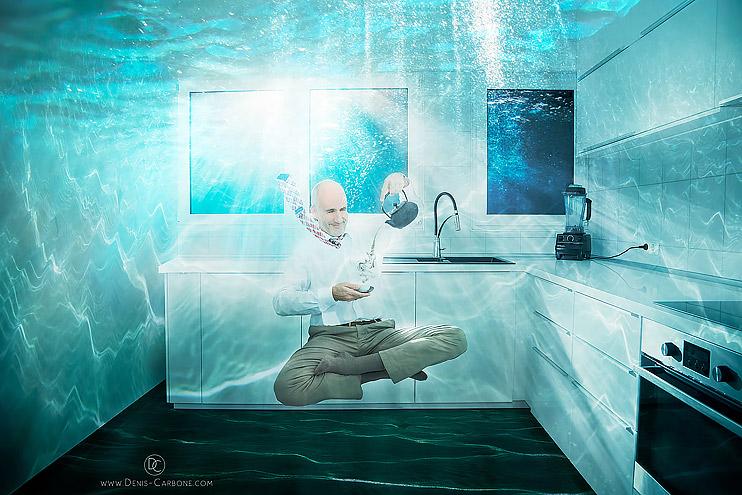 Teezeit Unterwasser