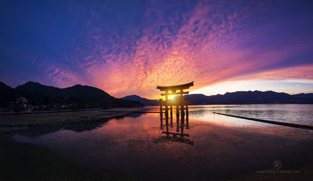 Itsukushima Shinto Shrine Sunset
