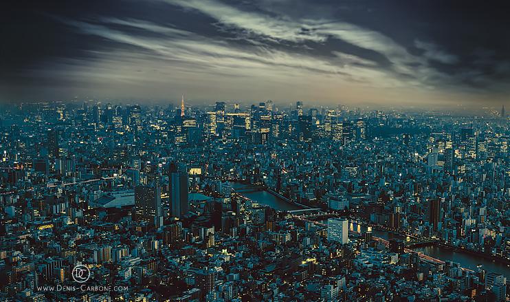 Tokyo Skyline at Dusk by Denis Carbone
