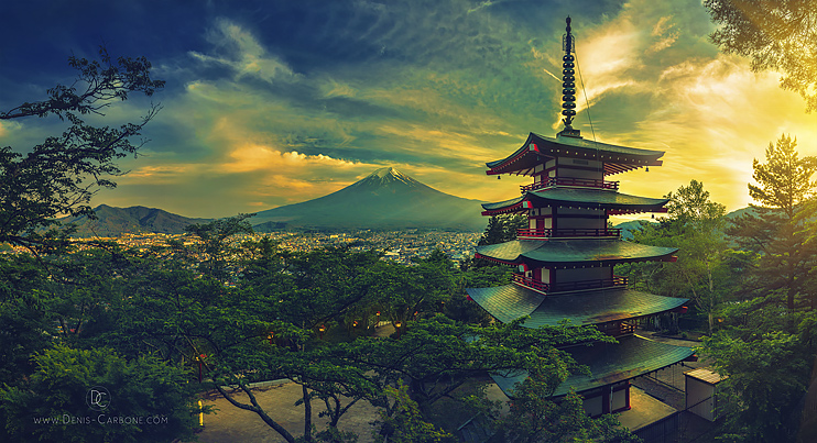 Japanese pagoda by Denis Carbone